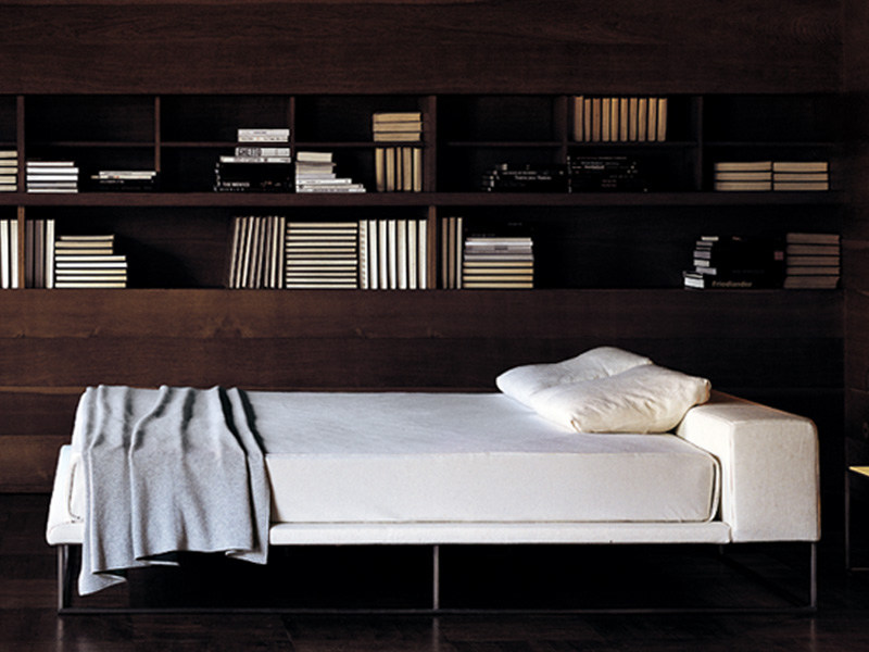 Double bed with upholstered headboard ILE | Bed - Living Divani