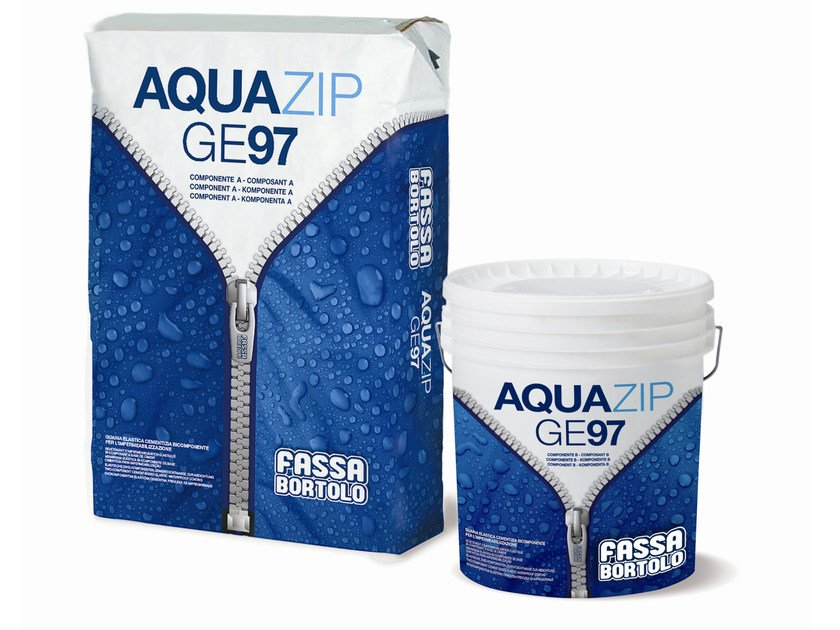 Cement-based waterproofing coating AQUAZIP® GE 97 by FASSA