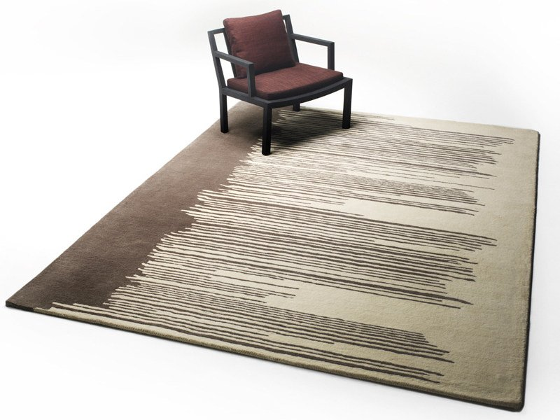 Rectangular wool rug DRIPPY by Living Divani