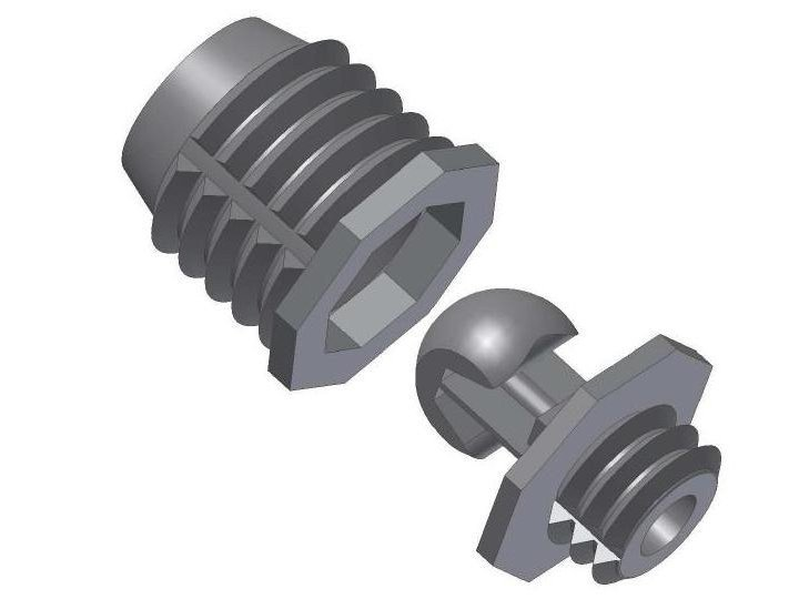 Metal Frame and accessory for suspended ceiling Fixing element for ceilings by FASTENERS PELOSATO