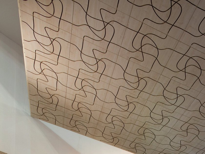 Sound absorbing MDF wall tiles LETWOOD - FANTONI
