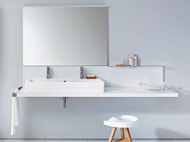Single washbasin countertop DELOS | Washbasin countertop - DURAVIT