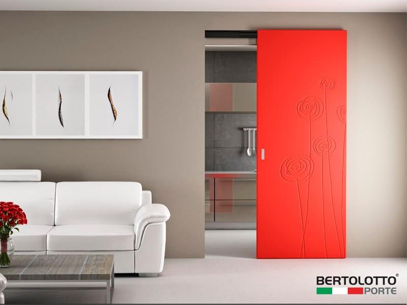 Lacquered sliding door NATURA - SOFFI - Bertolotto Porte