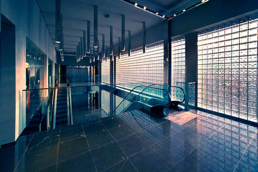 mattone in vetro con specchiatura pegasus metallizzato