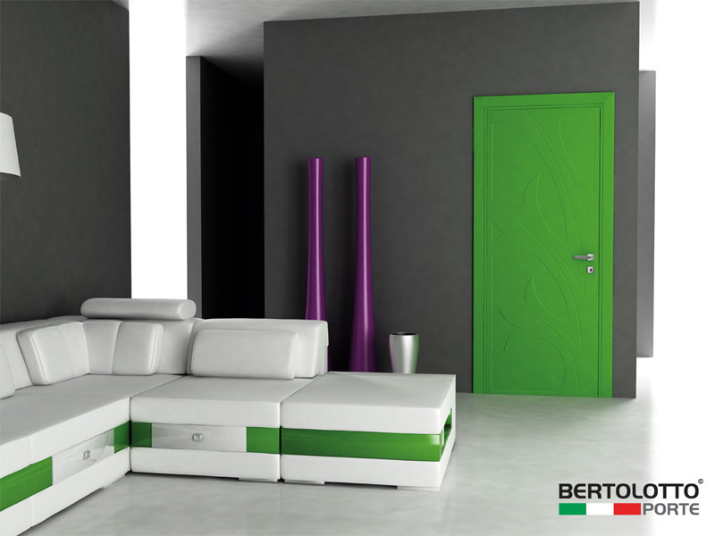 Hinged lacquered door NATURA - HYACINTUS by Bertolotto Porte