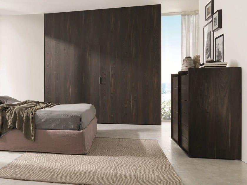 Wooden wardrobe with coplanar doors COMBI SYSTEM Z231 - Zalf