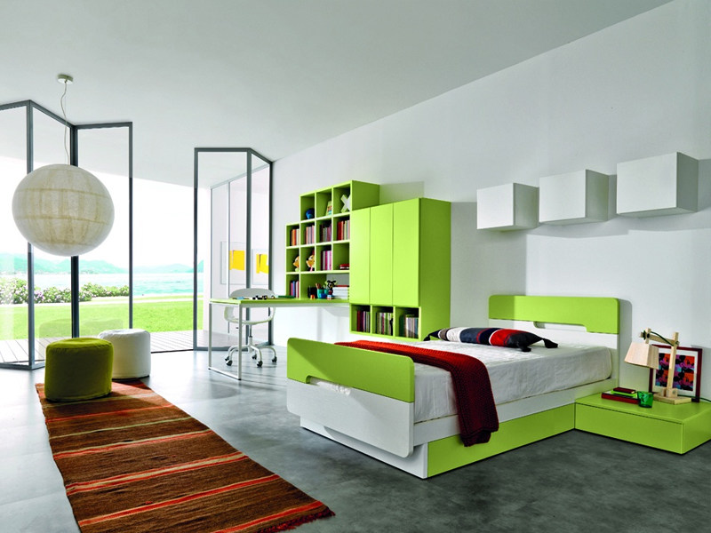 Fitted teenage bedroom Z015 | Bedroom set by Zalf