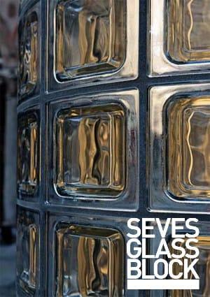 Mattone in vetro di grande formato ginza   seves glassblock