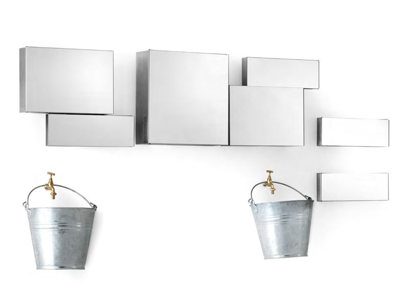 Wall cabinet with mirrored door BA.BELLE - Opinion Ciatti