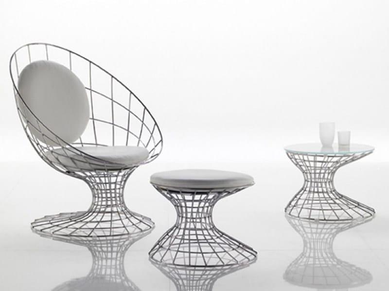 Metal armchair FILO by Désirée divani