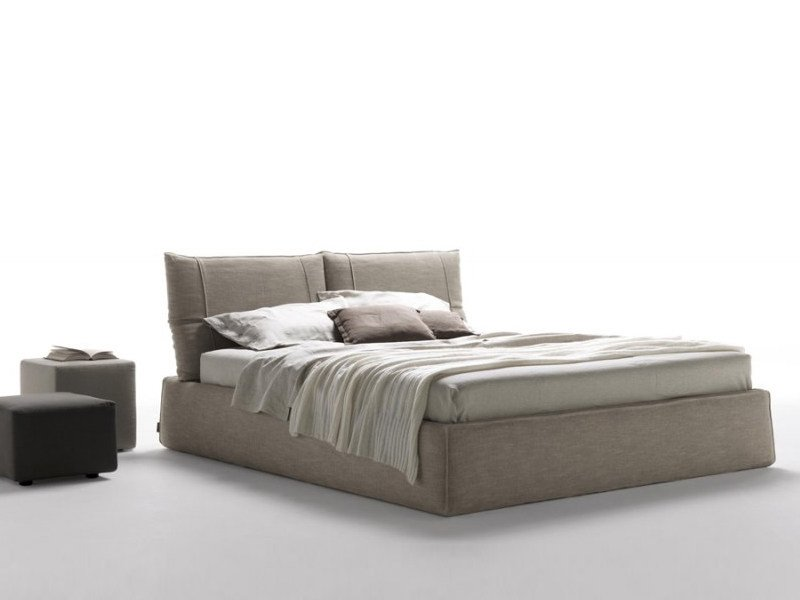 Double bed with upholstered headboard FREEMOOD | Bed - Désirée