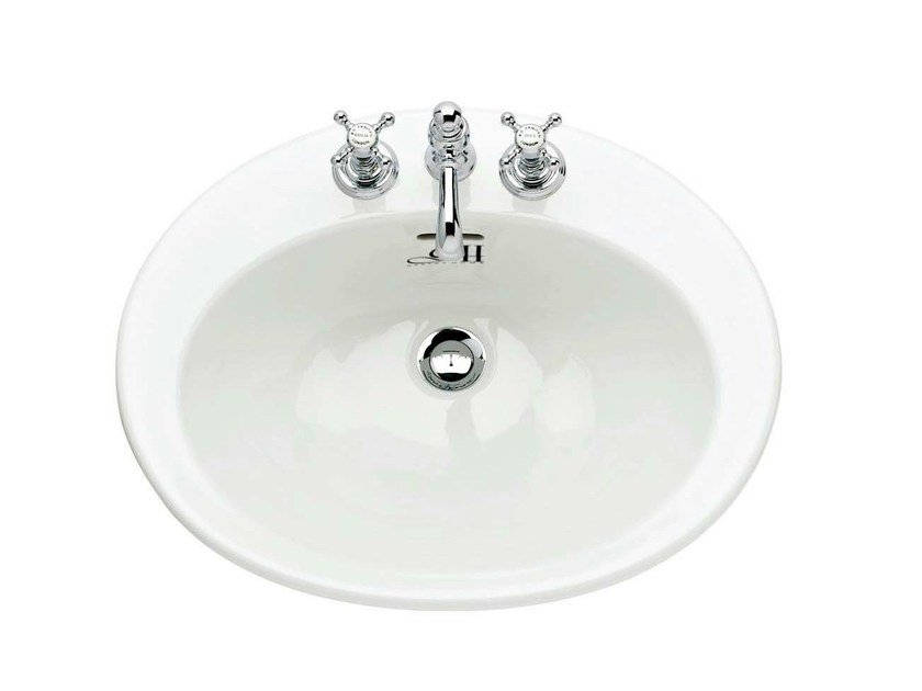 Inset porcelain washbasin BELGRAVIA | Inset washbasin - GENTRY HOME