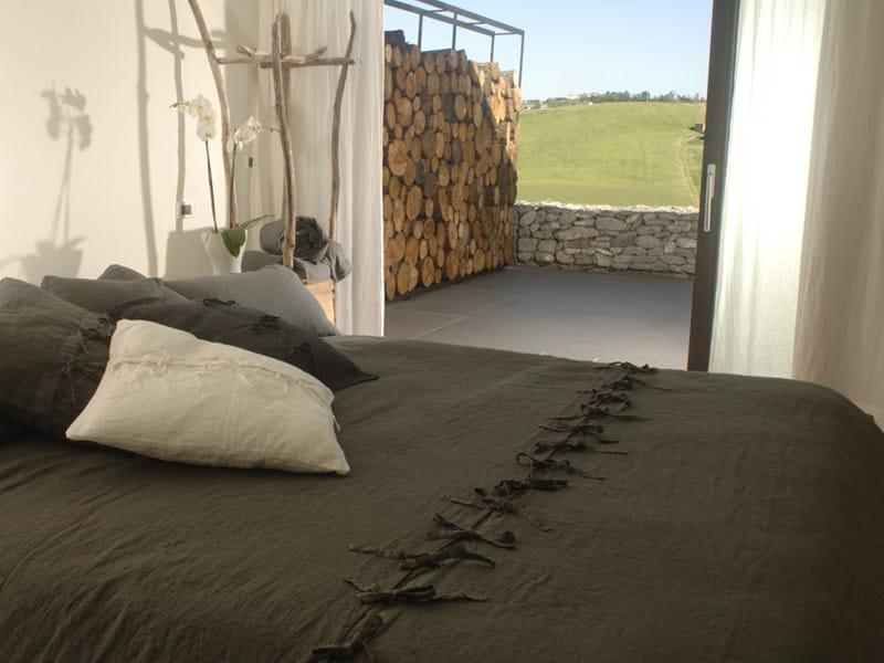 Solid-color linen bedding set LACCETTI | Bedding set - LA FABBRICA DEL LINO by Bergianti & Pagliani