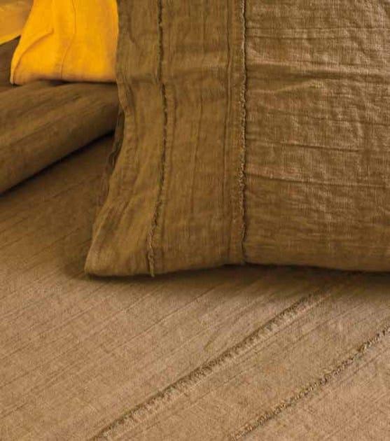 Coordinato letto a tinta unita in lino sfrangiato coordinato letto la fabbrica del lino - La fabbrica del lino letto ...