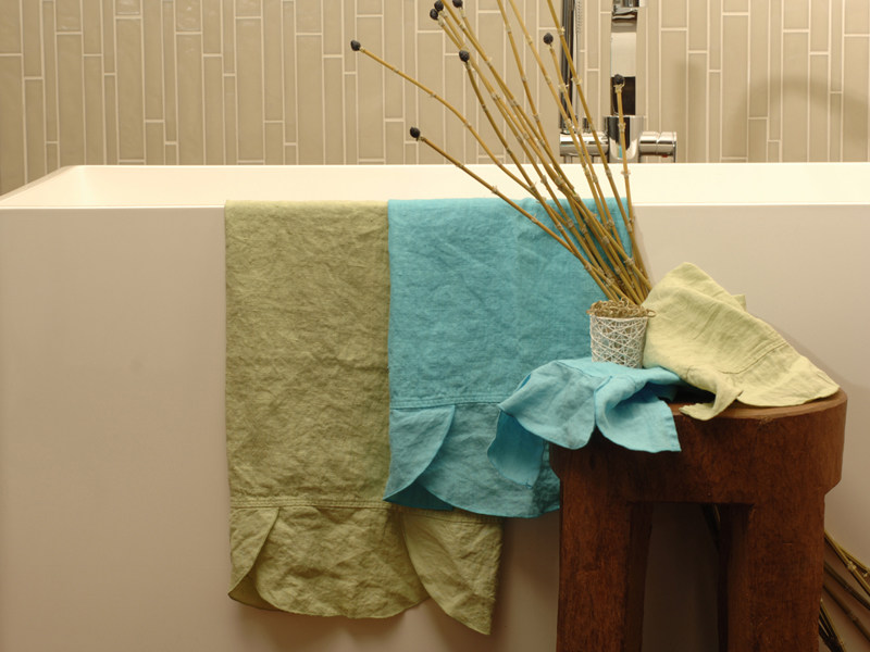 Linen bath Towel ONDE | Bath Towel - LA FABBRICA DEL LINO by Bergianti & Pagliani