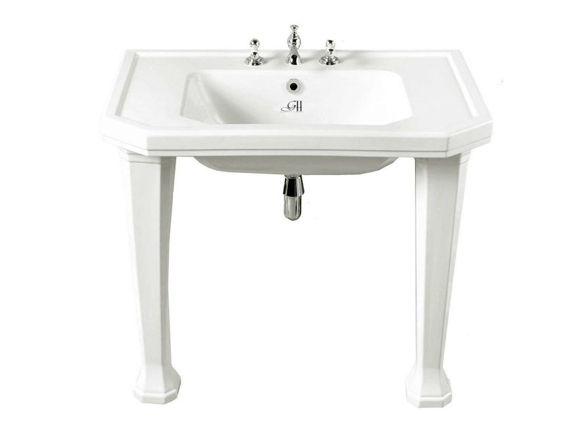 Console porcelain washbasin CLAREMONT | Console washbasin - GENTRY HOME