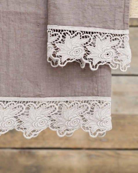 Asciugamano in cotone rose asciugamano la fabbrica del lino - La fabbrica del lino letto ...