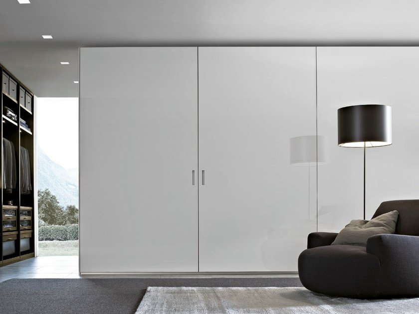 Lacquered wooden wardrobe OCEAN - Poliform