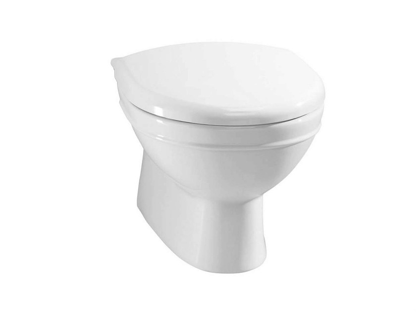 Wall-hung porcelain toilet DAMEA | Wall-hung toilet by GENTRY HOME