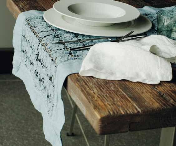 Margherite mantel individual by la fabbrica del lino - Manteles de lino ...