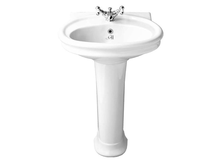 Pedestal washbasin HILLINGDON | Pedestal washbasin - GENTRY HOME