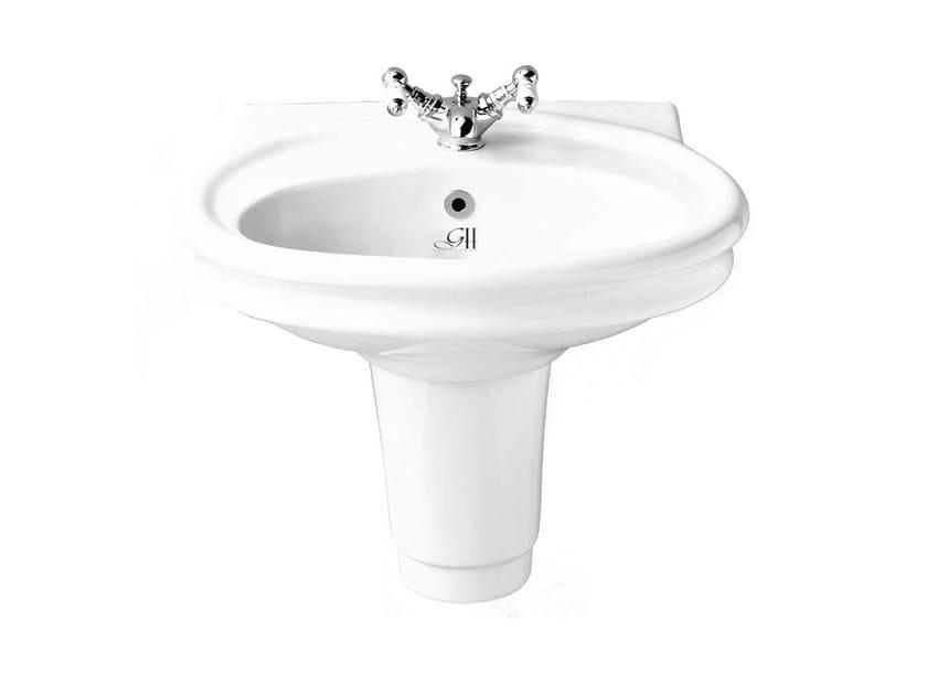 Wall-mounted porcelain washbasin HILLINGDON   Porcelain washbasin - GENTRY HOME