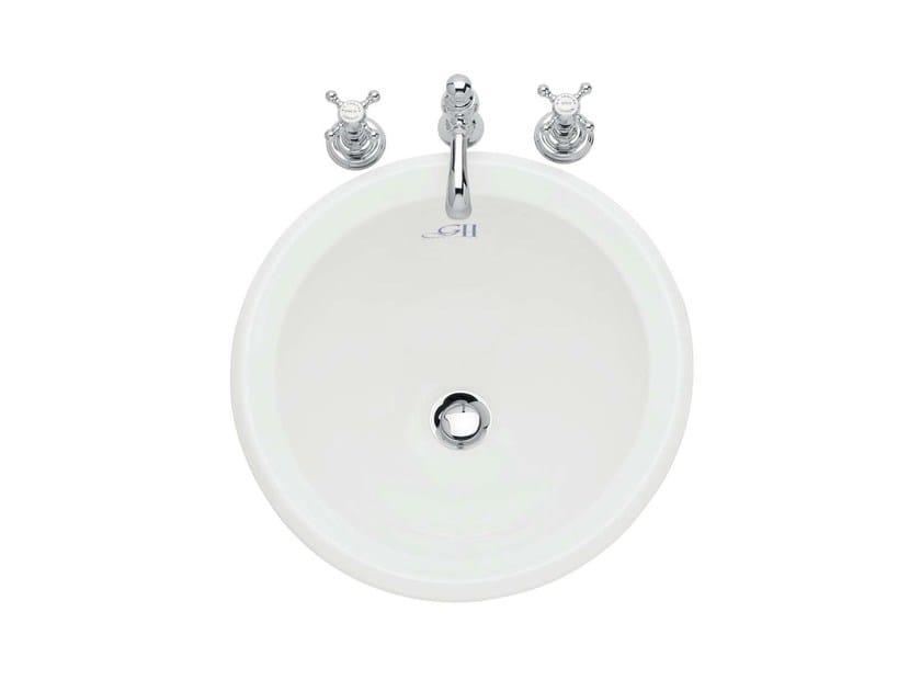 Inset porcelain washbasin NOUVEAU | Inset washbasin - GENTRY HOME