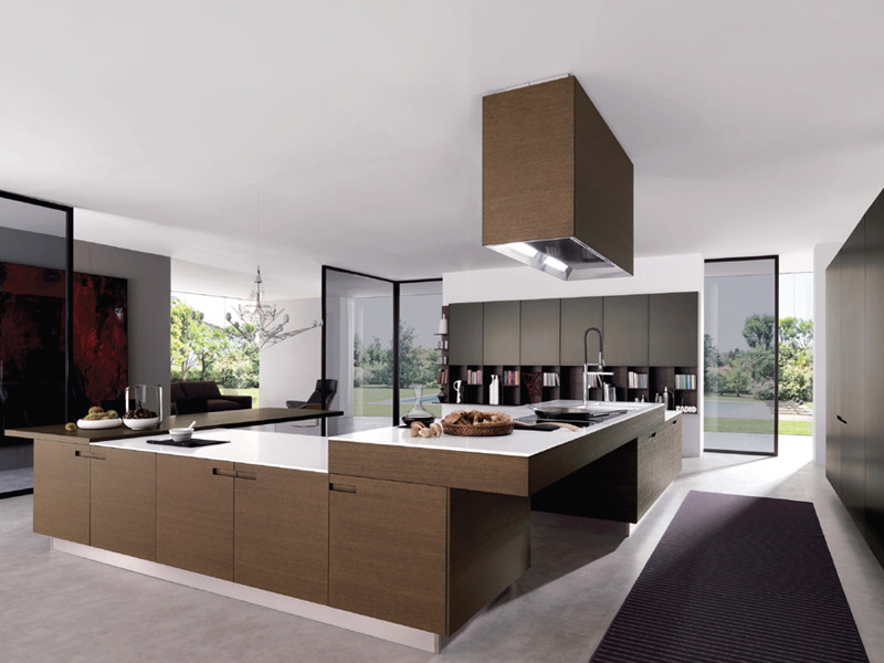 Fitted kitchen with integrated handles ASSIM - Euromobil