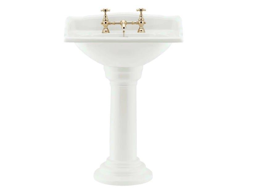 Pedestal porcelain washbasin VICTORIAN | Pedestal washbasin - GENTRY HOME