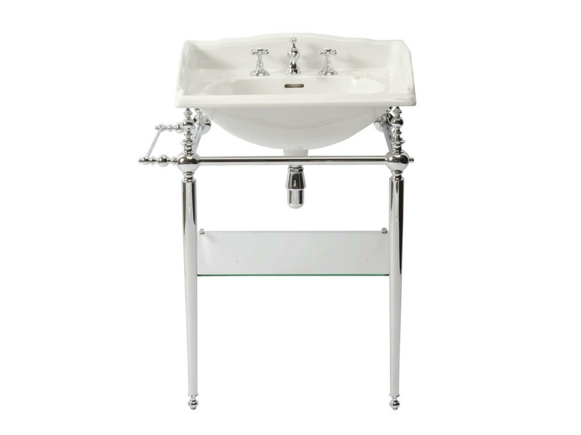 Console porcelain washbasin NEW VICTORIAN | Console washbasin - GENTRY HOME