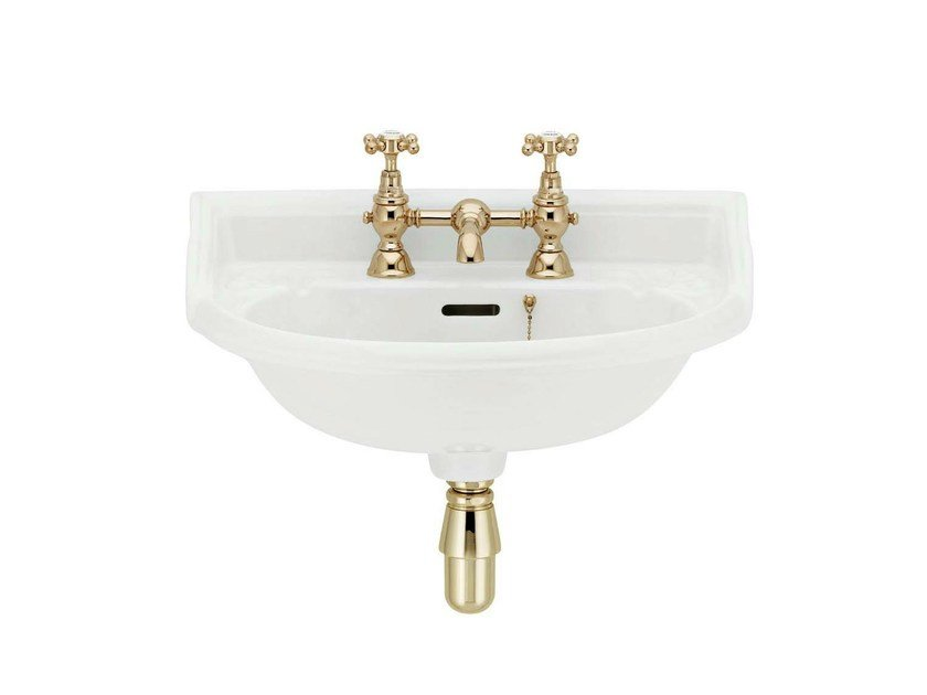 Wall-mounted porcelain washbasin VICTORIAN | Porcelain washbasin - GENTRY HOME