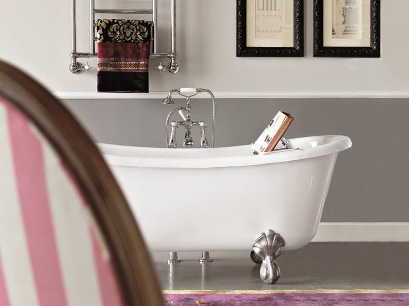 Vasca da bagno in acrilico in stile classico su piedi bateau gentry home - Vasca da bagno acrilico ...