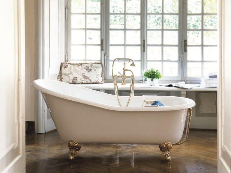 Vasca da bagno in ghisa in stile classico su piedi jasmine gentry home - Vasca da bagno con piedi ...