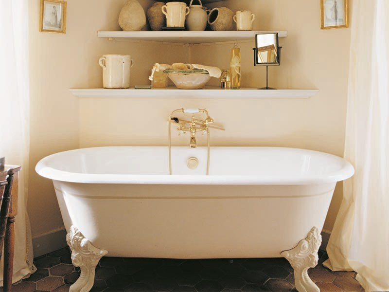 Vasca da bagno in ghisa su piedi cleo gentry home - Vasca da bagno con piedi ...