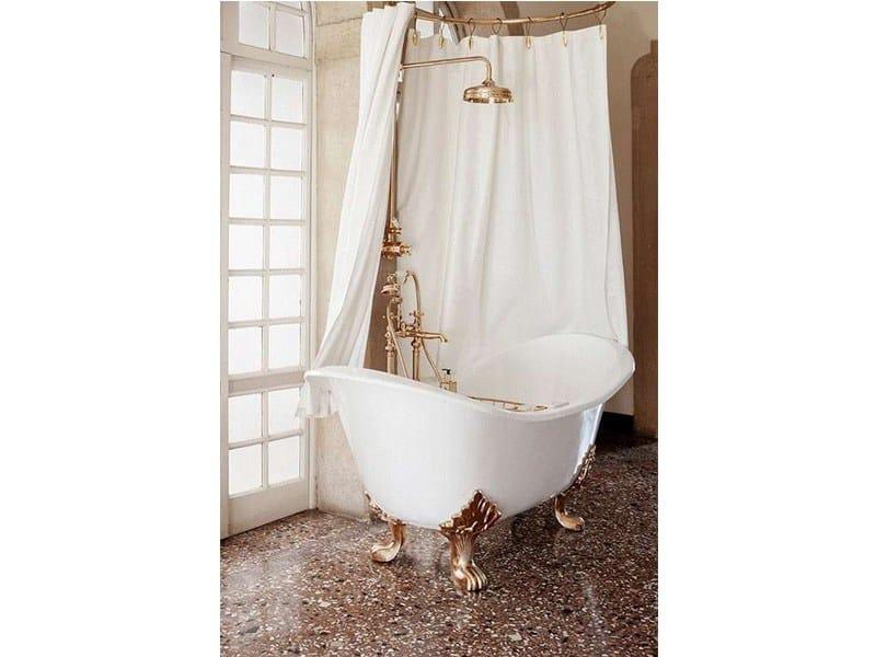 Vasca da bagno in ghisa in stile classico su piedi tulip gentry home - Vasca da bagno in ghisa ...