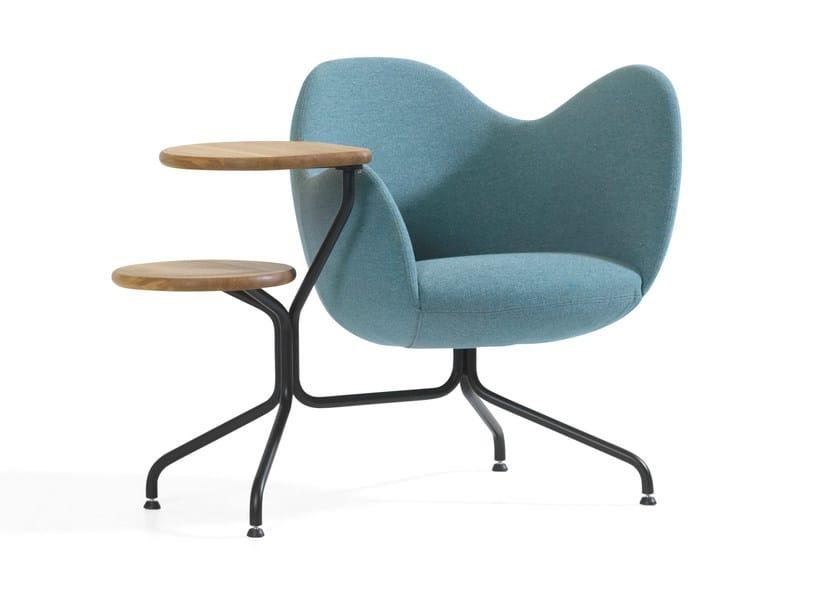 Trestle-based easy chair WILMER T - Blå Station