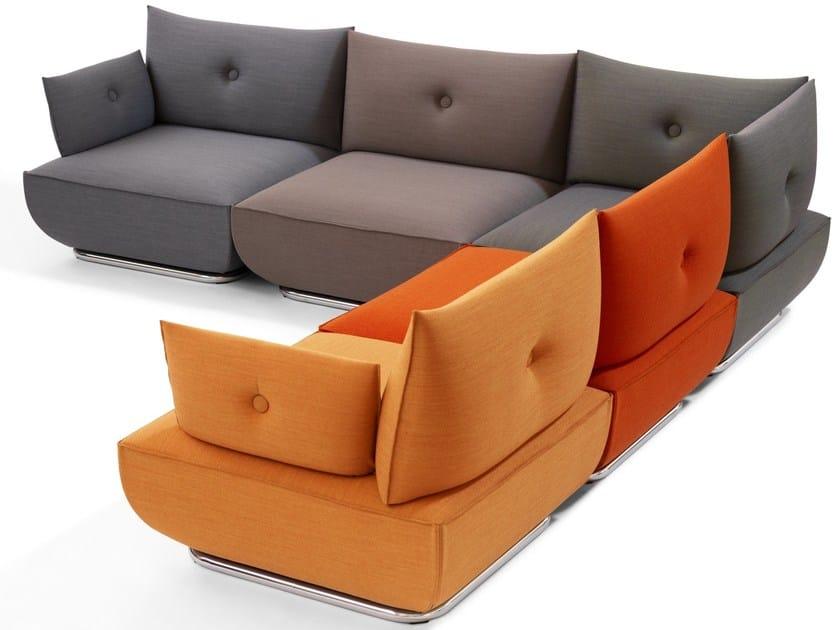 Sectional fabric sofa DUNDER | Corner sofa - Blå Station