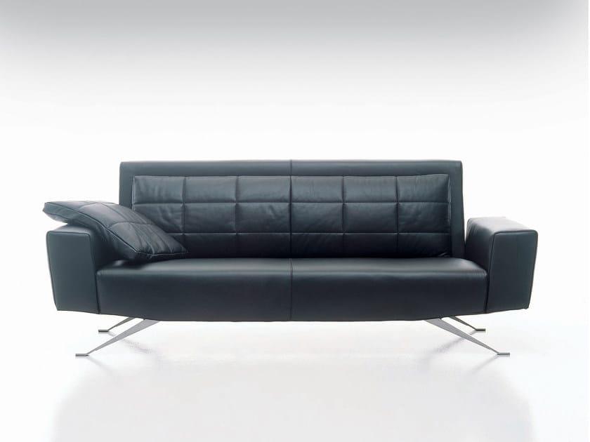2 seater leather sofa APOLLO | 2 seater sofa by i 4 Mariani