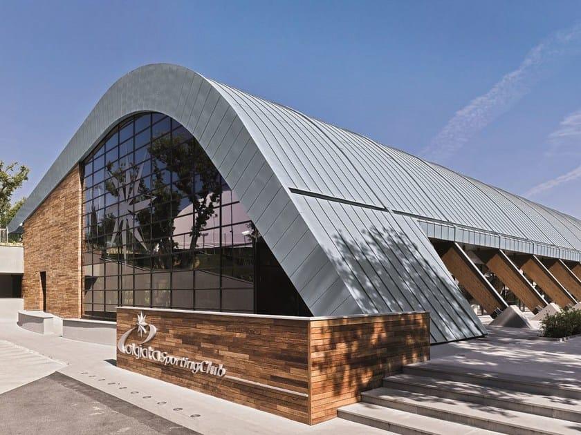 Continuous metal laminate for roof AGGRAFFATURA DOPPIA - RHEINZINK Italia