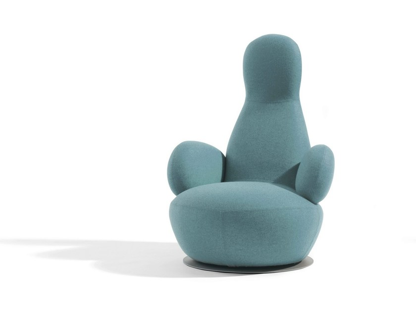 Swivel armchair with armrests OPPO | Armchair with armrests - Blå Station