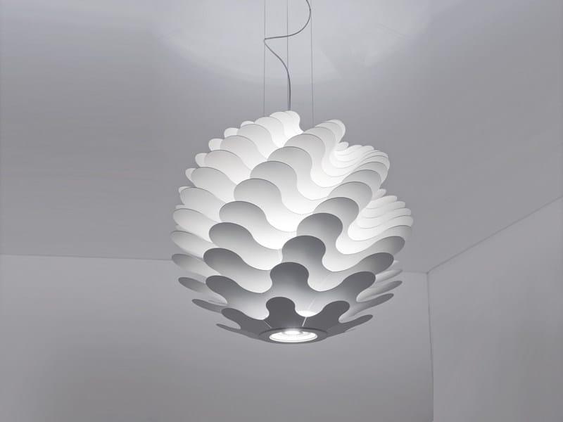 Aluminium pendant lamp LIBERA | Pendant lamp - LUCENTE - Gruppo Rostirolla