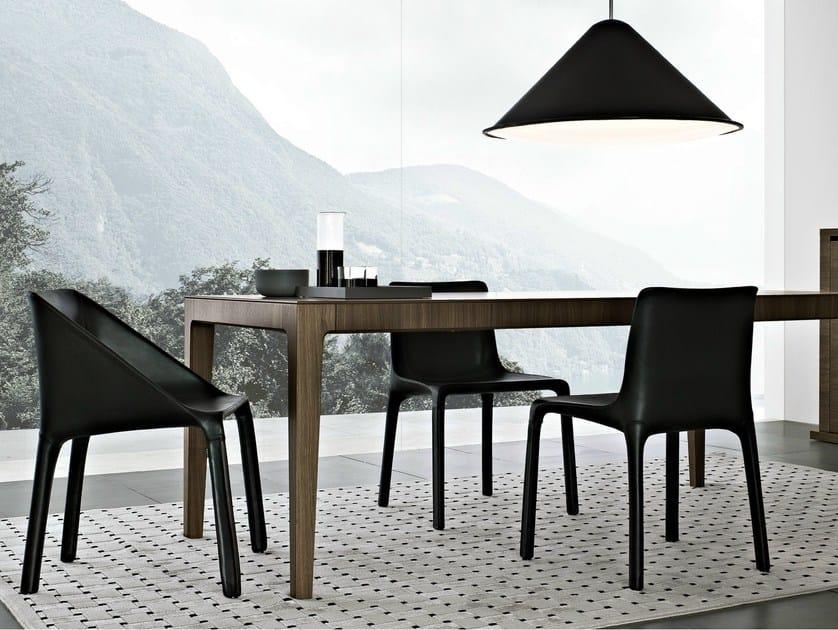Leather chair MANTA by poliform