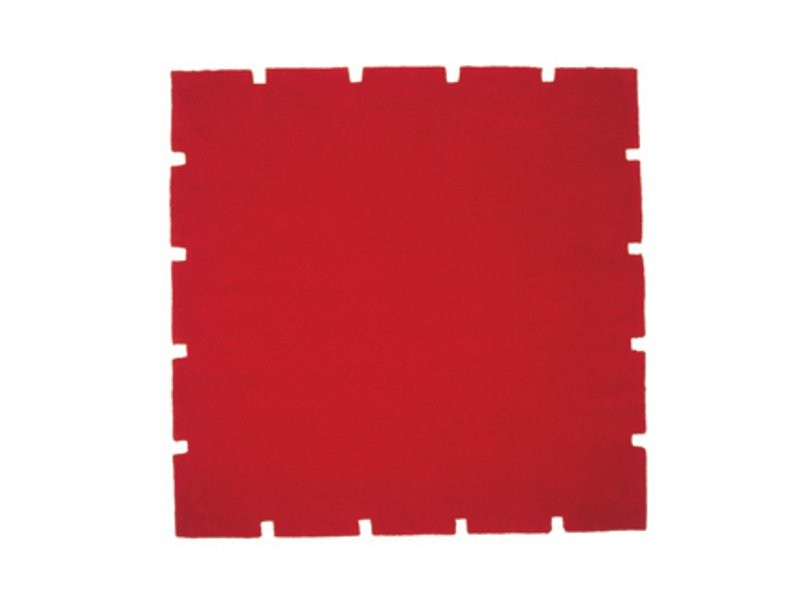 Solid-color square rug CHEESE - ASPLUND