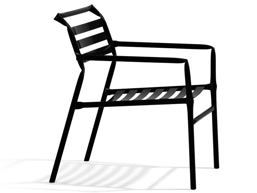Stackable garden armchair with armrests STRAW | Easy chair by Blå Station
