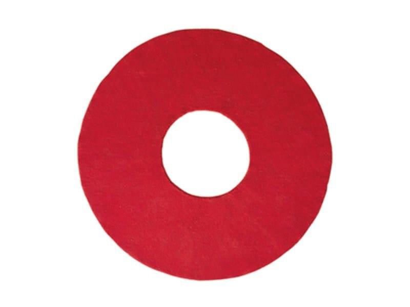 Solid-color round rug O - ASPLUND