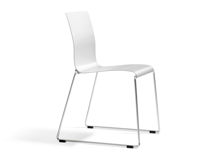 Sled base stackable chair STING | Sled base chair - Blå Station