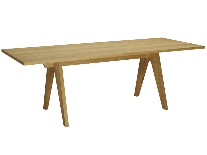 Solid wood table ALDEN - e15