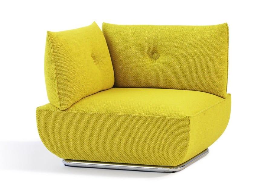 Corner upholstered fabric armchair DUNDER | Corner armchair - Blå Station