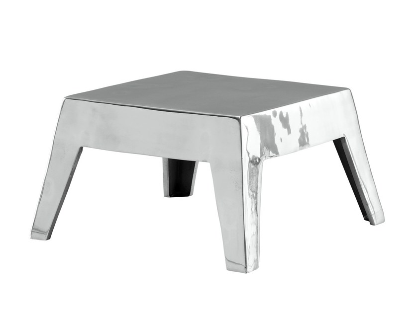 Low aluminium coffee table BASSO - Poliform