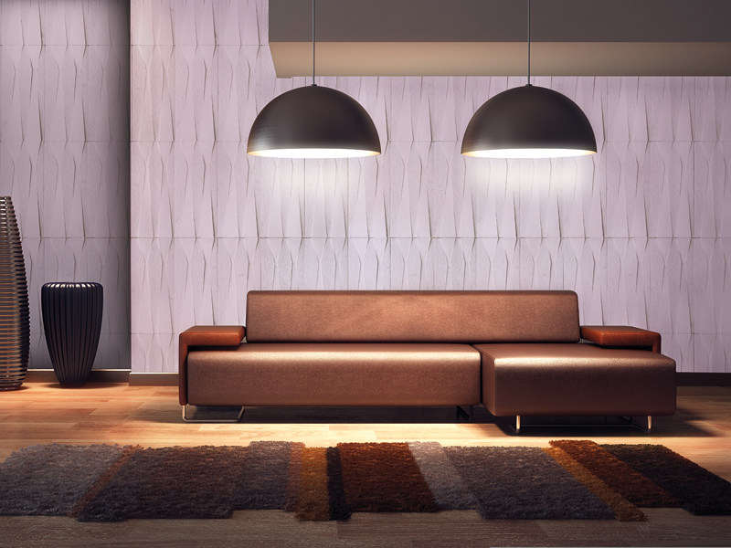 Indoor reconstructed stone 3D Wall Cladding CUSPIS by BIOPIETRA®